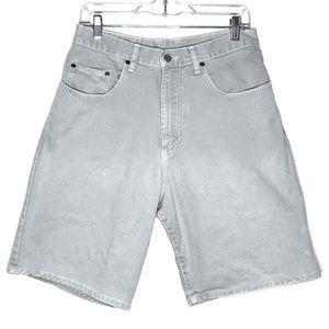 Vintage Lucky Brand Gray Denim Jean Shorts Size 30